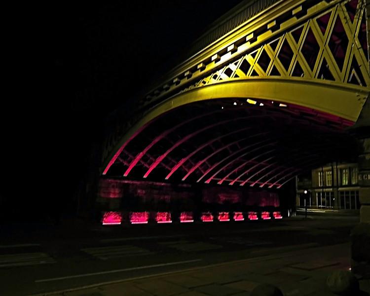 Newcastle Railway bridge at night