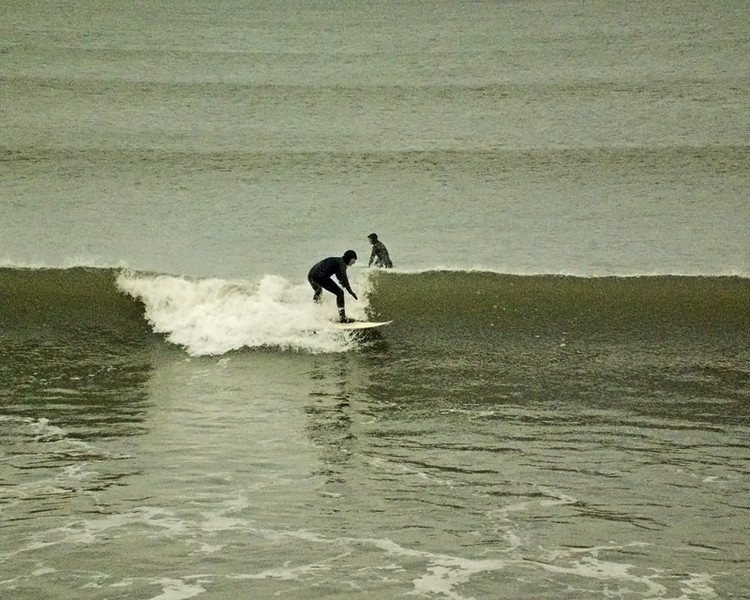 Surfing in the North Sea at Blyth