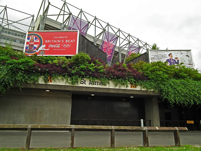 St James Park, Newcastle during the Olympics