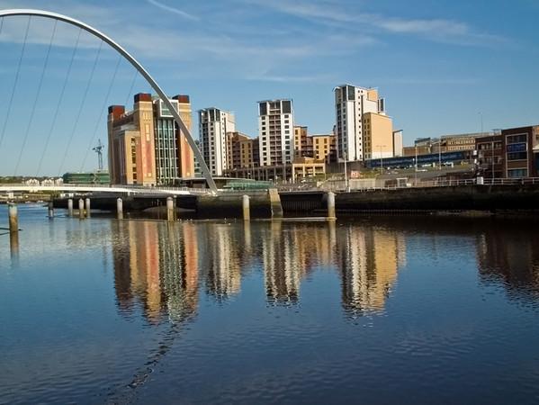 Millenium Bridge and Baltic Gallery for Contemporary Art, Gateshead.