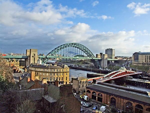 Newcastle Quayside and bridges