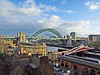 Newcastle Quayside and bridges