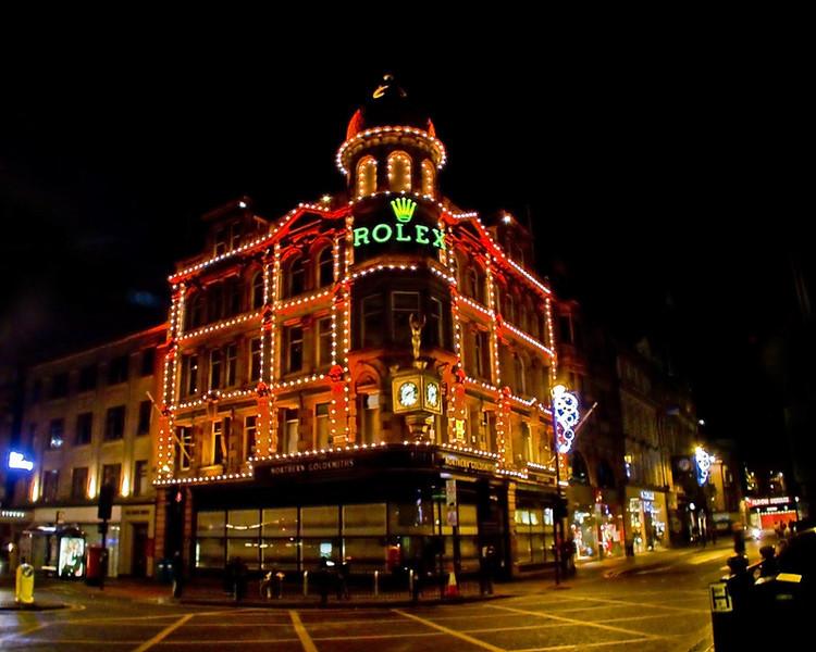Northern Goldsmiths, Newcastle at night Dec 2011