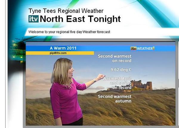 Tyne Tees Weather forecast 30th Dec 2011