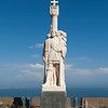 Cabrillo National Monument, established in 1913, commemorates Juan Rodriguez Cabrillo's voyage of discovery. Cabrillo looks out over the San Diego bay that he first sailed into on September 28, 1542.