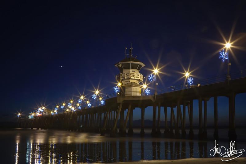 Huntington Beach Pier in December<br /> Huntington Beach, CA