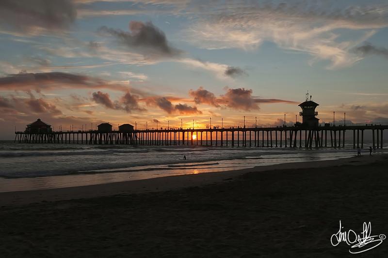 Huntington Beach Pier Sunset