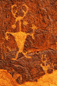 "The ""Moab Man"" petroglyph, near Moab, Utah"