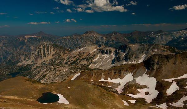 View from Matterhorn, Eagle Cap Wilderness, Ice Lake in the very far left
