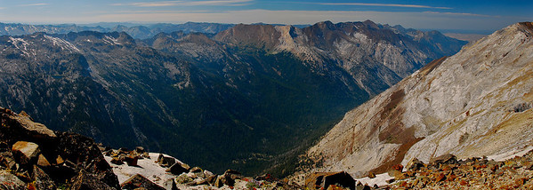 Panorama atop Matterhorn, Eagle Cap Wilderness