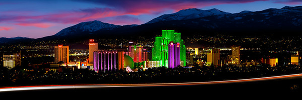 Downtown Reno Nevada at Twilight | Biggest Little Cityscape