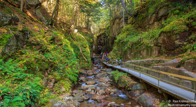 On the way to Flume Gorge - Franconia Notch State Park