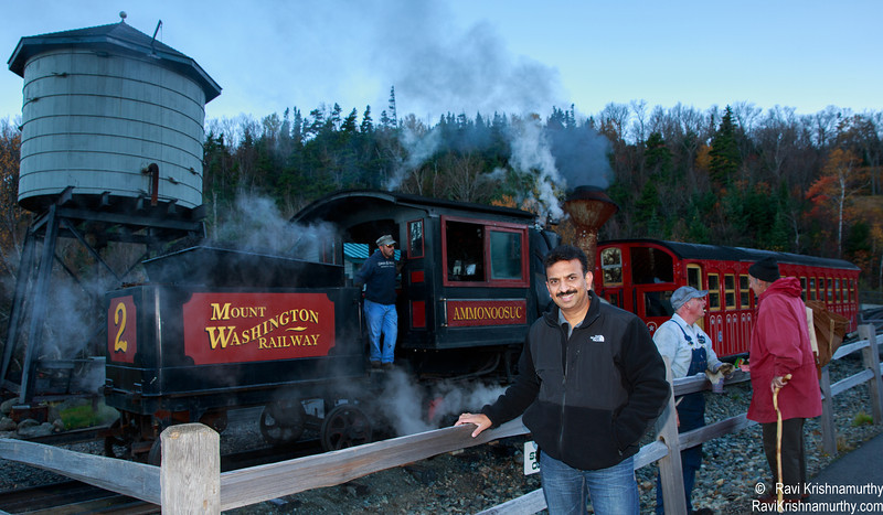 At the trainstation - Mt Washington Cog Railway