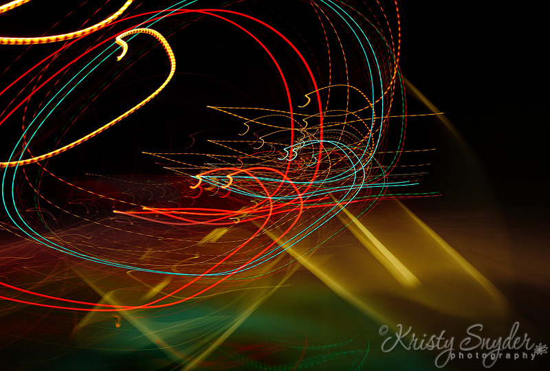 Abstract,,  Driving, Street light art.