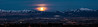 Moon down, Salt Lake Valley panorama, a 4 or 5 image stitch.