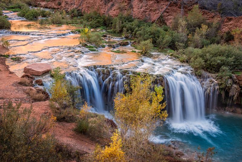 Autumn at Little Navajo Falls