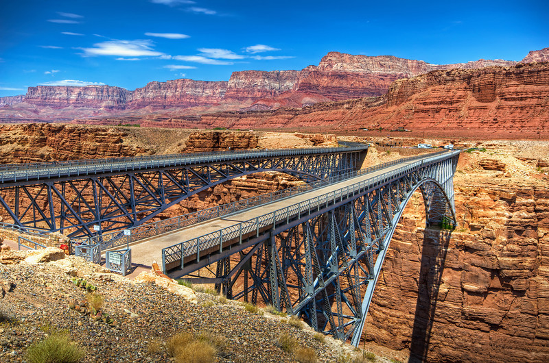 Navajo Bridge and the Vermilion Cliffs in Northern Arizona