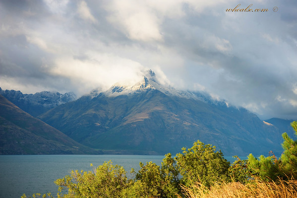 Snow-capped Mountains and Lake Wakatipu, Queenstown