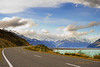 Road to Mount Cook with Lake Pukaki on the right