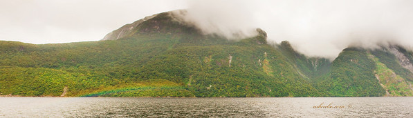 Rainbow in Doubtful Sound