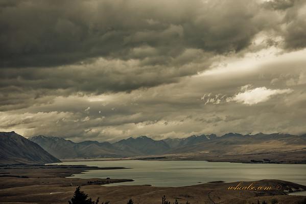 Lake Alexandria, view from Mt John Observation Centre, Lake Tekapo
