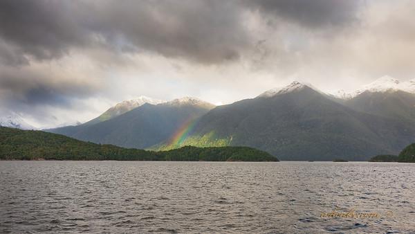 Rainbow in Doubtful Sound