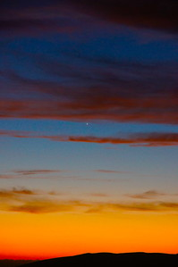 Venus and Mercury (dimmer at about 7 o'clock to Venus)