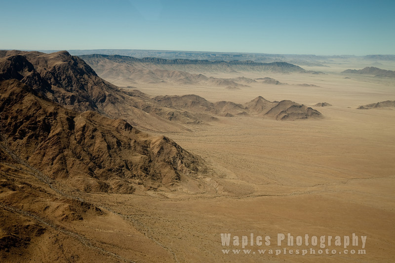 Flying from Windhoek to Sossusvlei