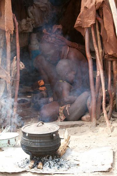 Himba Child with Elder