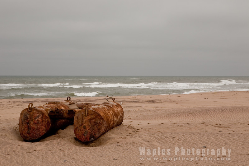 Abandoned Pontoons on the Skeleton Coast