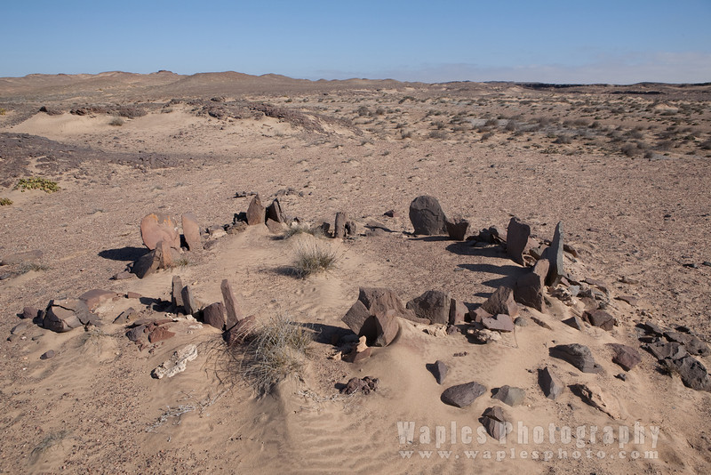 Ancient Circle of Stone created by the San (Bushmen)