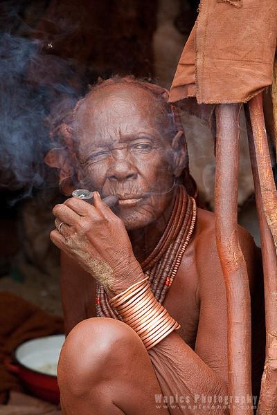 The Himba - Taking a Smoke