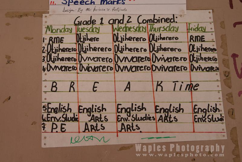 School/Class Schedule