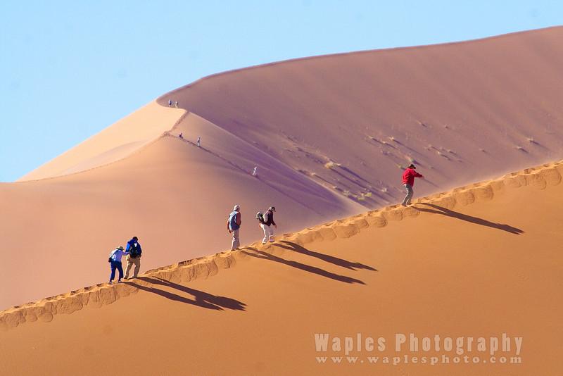 "Hiking Dune called ""Big Mama"""