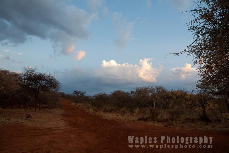 Sunset at Okonjima Lodge