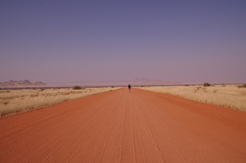 After leaving Mariental, I was in for my first long(for me) desert ride in Namibia. It was 300km to the next gas can, and besides broken down cars and an old german castle, very barren. This was the first time I really wouldn't have minded a larger Car, to make the endless straight desert road go by a little quicker