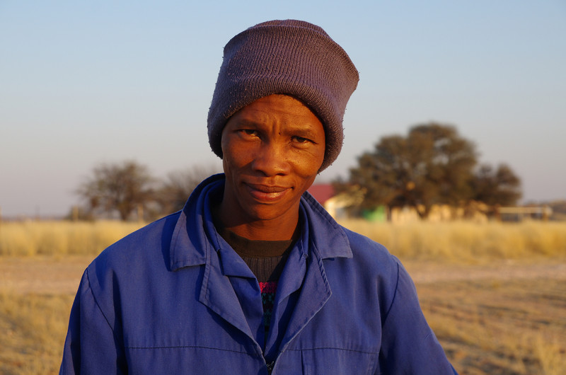 Michael, a nice worker from a farm in the Kalahari.