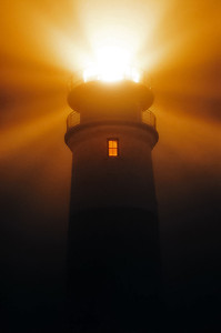 Sankaty Head Lighthouse in thick fog
