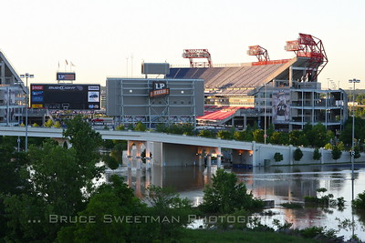 LP Field - home of the Tennessee Titans - was under several feet of water.
