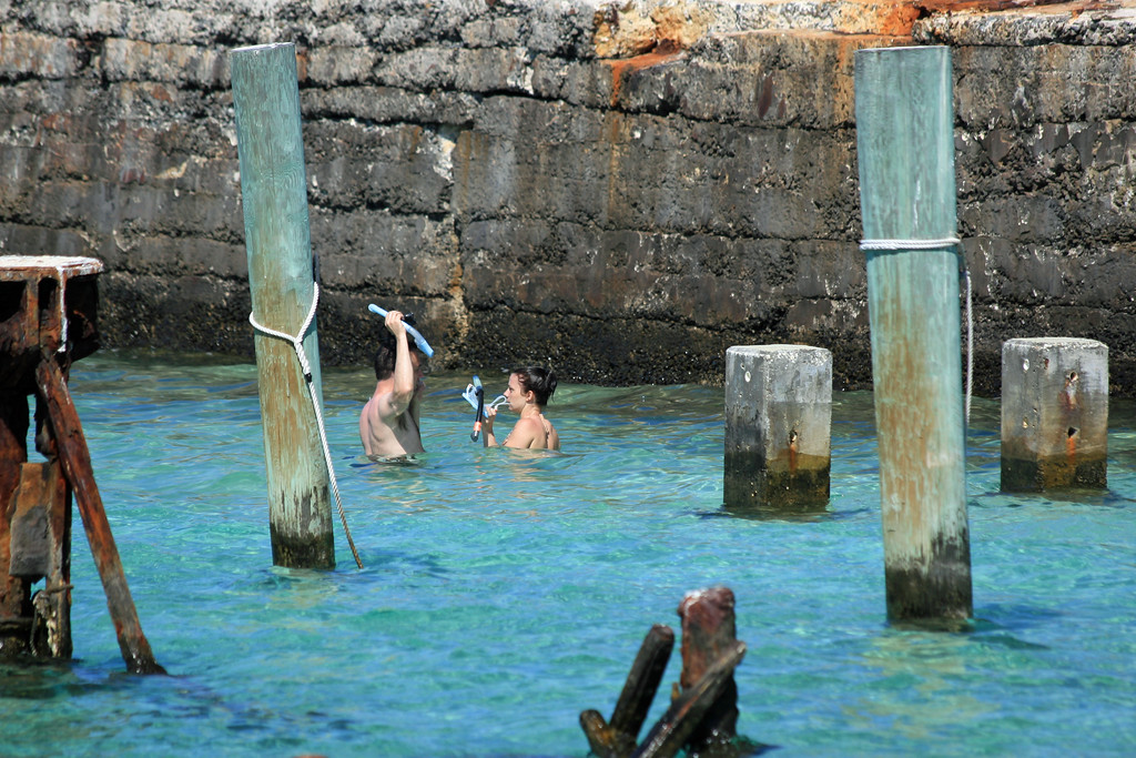 There is a lot of great snorkeling around the fort's seawalls and surrounding reefs.