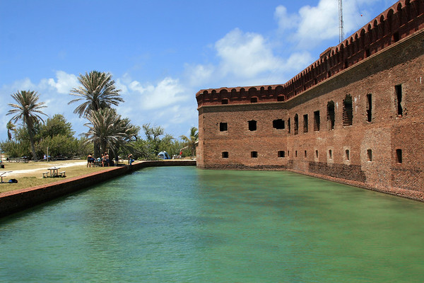 Fort Jefferson's 8 foot deep moat!  Check out all the firing angles to cut down anyone silly enough to try breaching the walls of the fort.