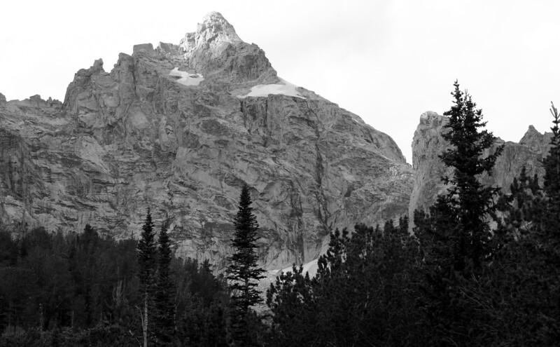 Grand Teton peak as seen from Surprise Lake, Grand Teton NP