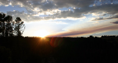 Sunset near Grand Canyon of the Yellowstone.