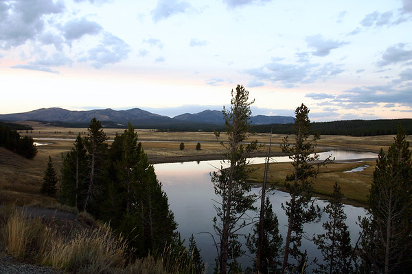 Hayden Valley at Dusk with Yellowstone River, Yellowstone NP