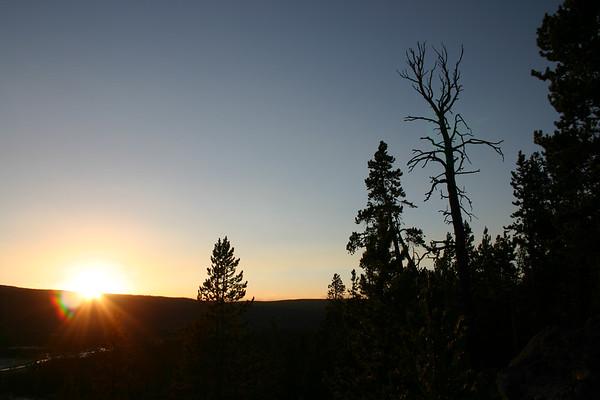 Sunset over Upper Geyser Basin
