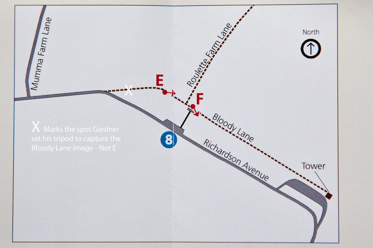 The X is at the top of the hill.  Map courtesy of NPS.
