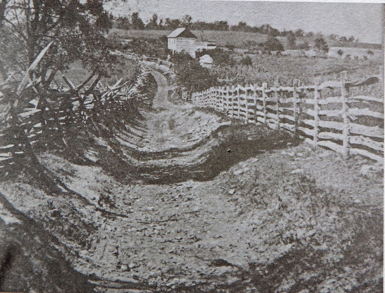 "Image of Bloody Lane from the same perspective as the previous image.  Image is c. 1880 ANB courtesy ""Antietam - Then and Now ""."