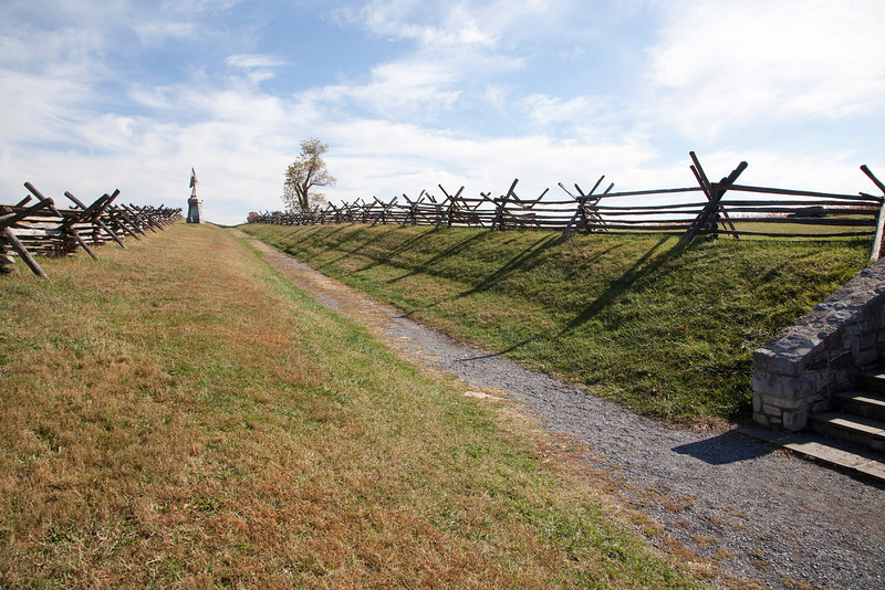 """Today's view of previous Gardner image.   Correctly located at """"F"""" in the """"Photography at Antietam - A Battlefield Tour"""".  See next map image."""