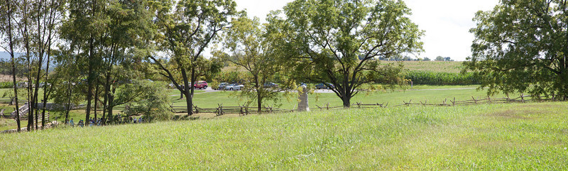 This panorama is what the Federal troops would have seen as they marched across the hill top towards the upper eastern part of Sunken road.  August 25, 2009