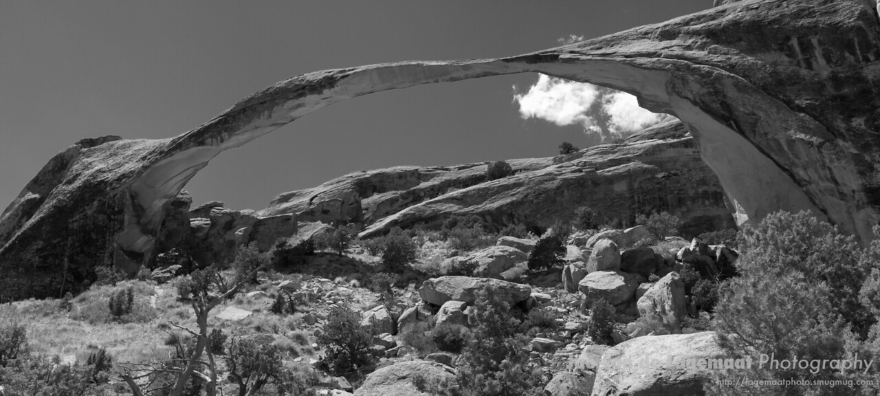 Landscape arch panorama